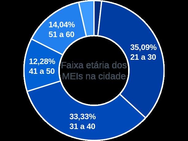 Faixa etária de MEIs na cidade de Calçado