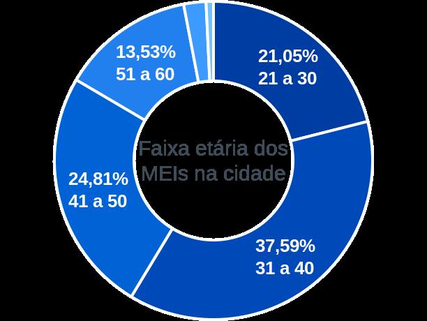 Faixa etária de MEIs na cidade de Capoeiras