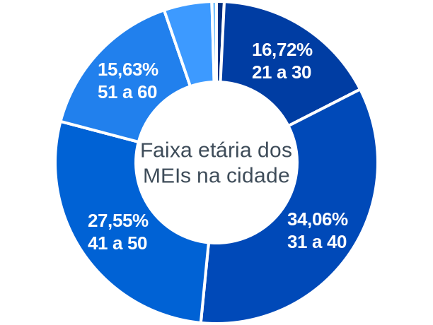 Faixa etária de MEIs na cidade de Rio Formoso