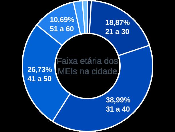 Faixa etária de MEIs na cidade de Santa Cruz da Baixa Verde