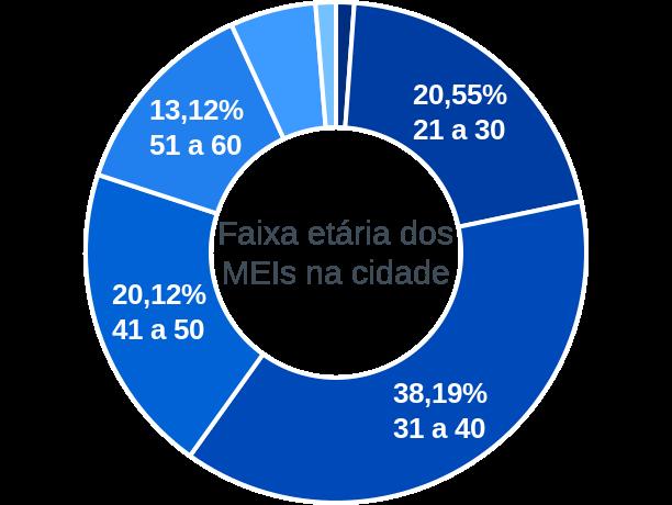 Faixa etária de MEIs na cidade de São Bento do Una