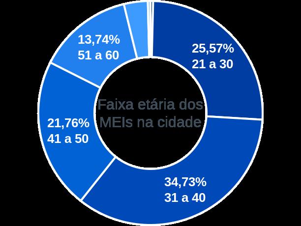 Faixa etária de MEIs na cidade de São João