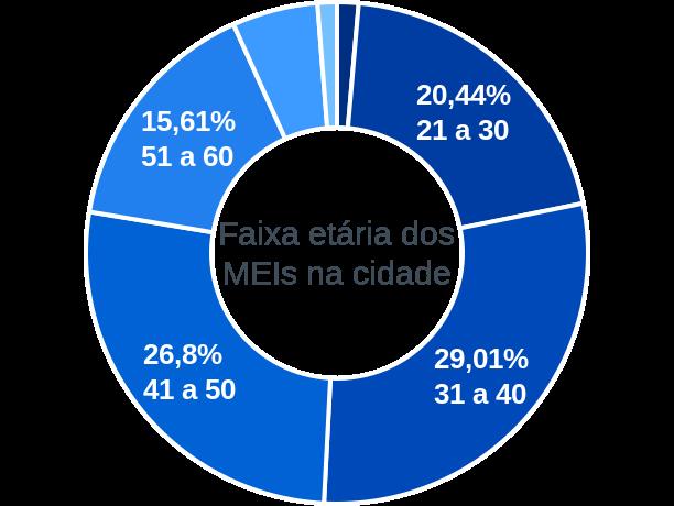 Faixa etária de MEIs na cidade de São José da Coroa Grande