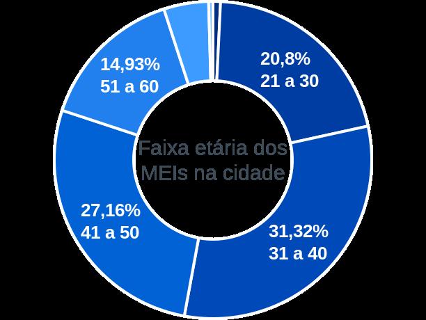 Faixa etária de MEIs na cidade de São Lourenço da Mata