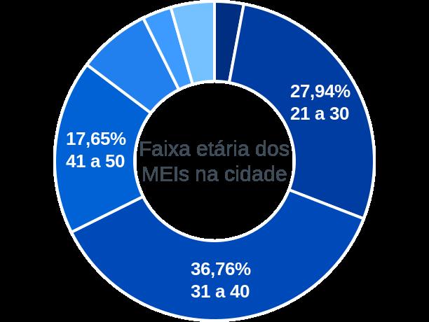 Faixa etária de MEIs na cidade de Solidão