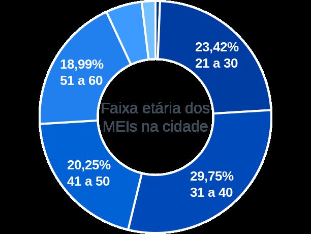 Faixa etária de MEIs na cidade de Angical do Piauí