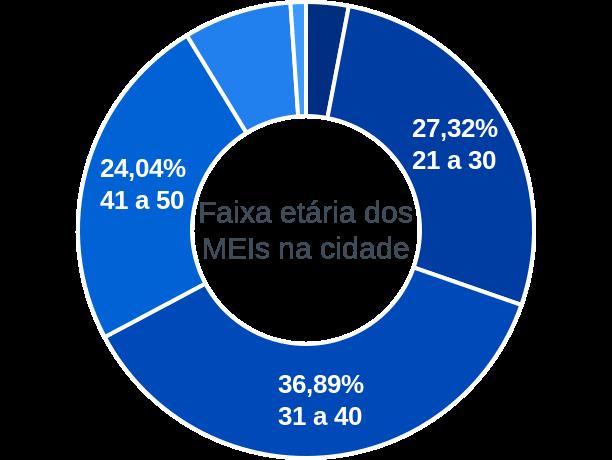 Faixa etária de MEIs na cidade de Baixa Grande do Ribeiro