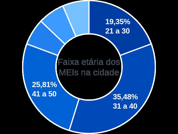 Faixa etária de MEIs na cidade de Barreiras do Piauí