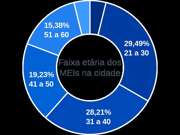Faixa etária de MEIs na cidade de Bela Vista do Piauí