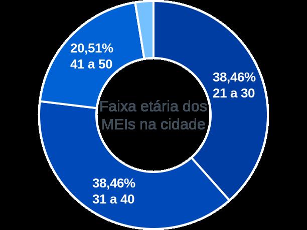 Faixa etária de MEIs na cidade de Betânia do Piauí
