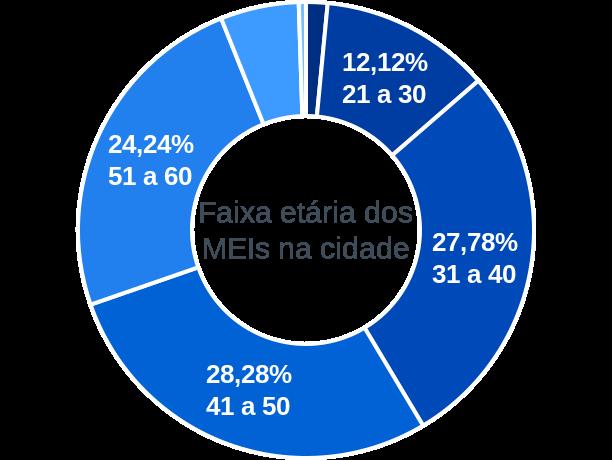 Faixa etária de MEIs na cidade de Brasileira