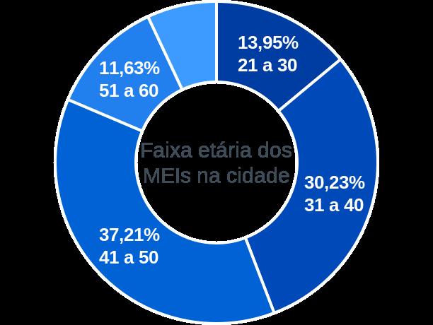 Faixa etária de MEIs na cidade de Campinas do Piauí
