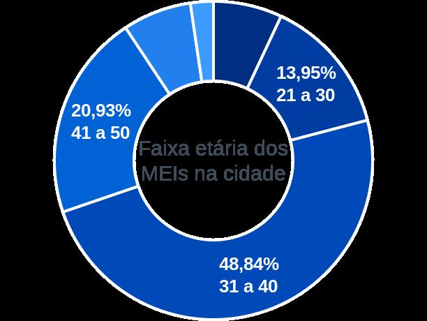 Faixa etária de MEIs na cidade de Campo Alegre do Fidalgo