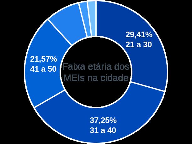 Faixa etária de MEIs na cidade de Campo Largo do Piauí