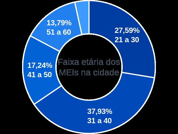 Faixa etária de MEIs na cidade de Canavieira