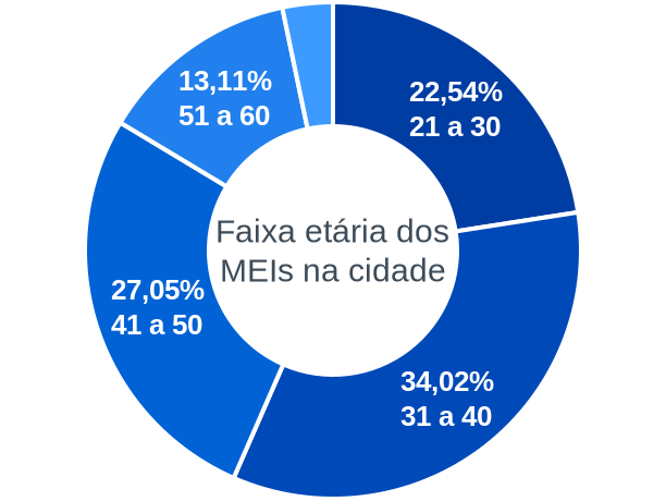 Faixa etária de MEIs na cidade de Capitão de Campos