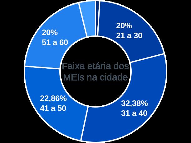 Faixa etária de MEIs na cidade de Colônia do Piauí