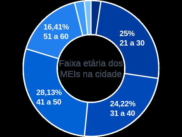 Faixa etária de MEIs na cidade de Dom Expedito Lopes