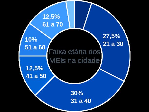 Faixa etária de MEIs na cidade de Fartura do Piauí