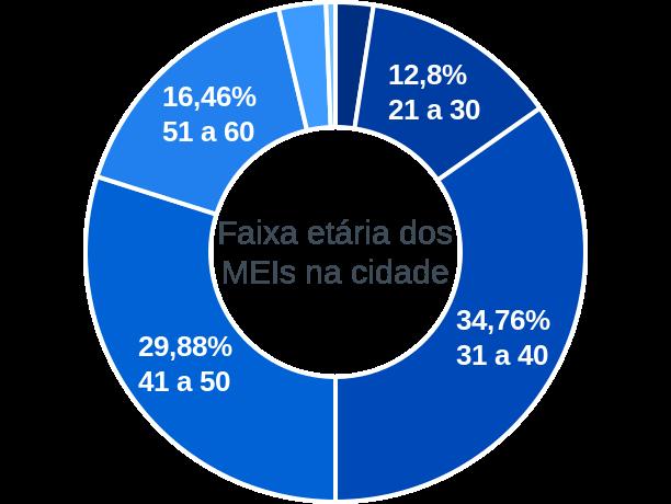 Faixa etária de MEIs na cidade de Ipiranga do Piauí