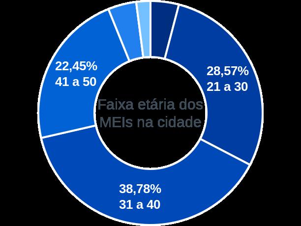 Faixa etária de MEIs na cidade de Jacobina do Piauí