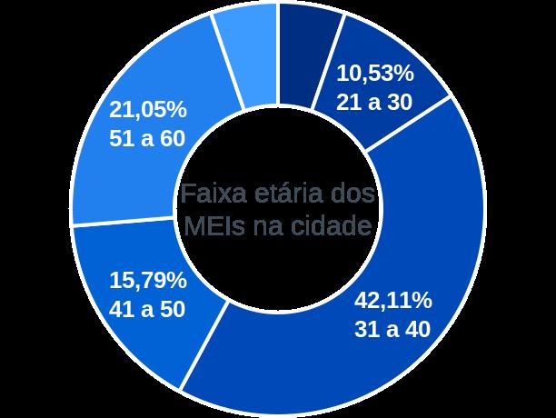 Faixa etária de MEIs na cidade de João Costa