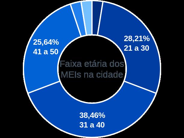 Faixa etária de MEIs na cidade de Lagoa do Barro do Piauí