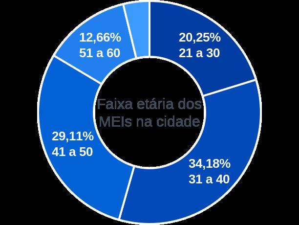 Faixa etária de MEIs na cidade de Lagoa do Piauí