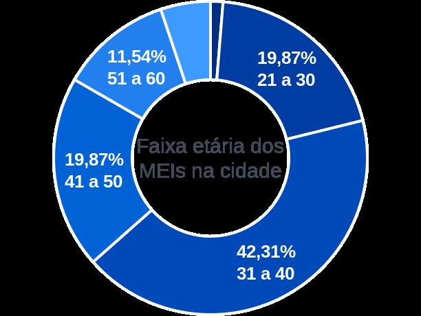 Faixa etária de MEIs na cidade de Monte Alegre do Piauí