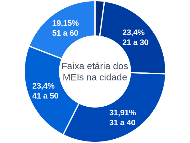 Faixa etária de MEIs na cidade de Pajeú do Piauí