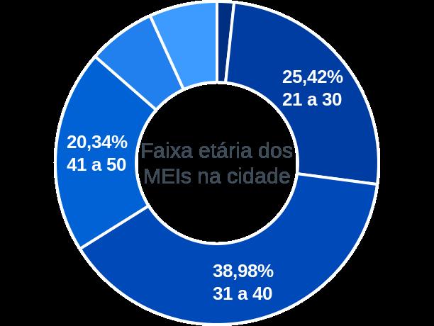 Faixa etária de MEIs na cidade de Passagem Franca do Piauí
