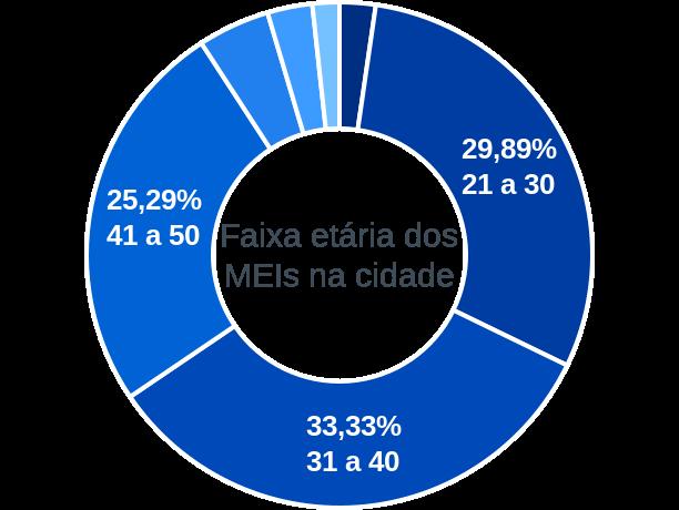 Faixa etária de MEIs na cidade de Porto