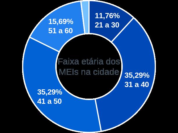 Faixa etária de MEIs na cidade de Prata do Piauí