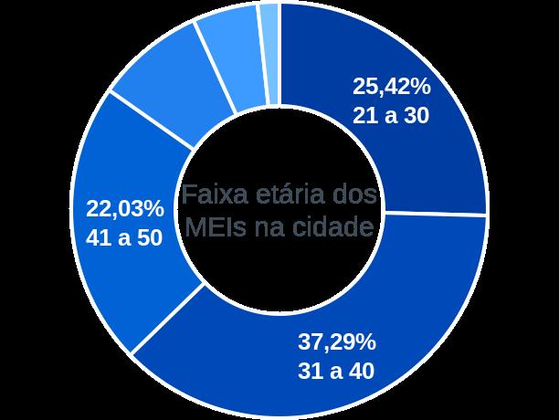 Faixa etária de MEIs na cidade de Santo Antônio de Lisboa