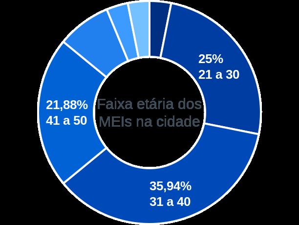 Faixa etária de MEIs na cidade de São Francisco de Assis do Piauí