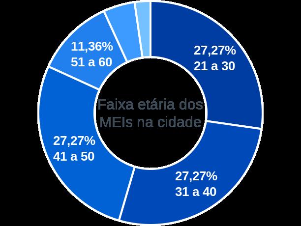 Faixa etária de MEIs na cidade de São Gonçalo do Gurguéia