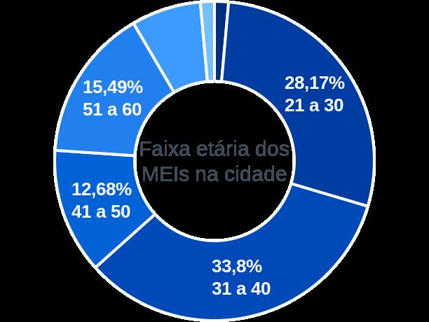 Faixa etária de MEIs na cidade de São Gonçalo do Piauí