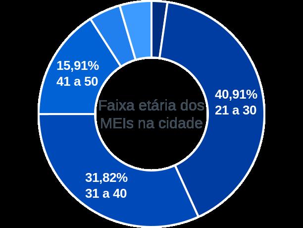 Faixa etária de MEIs na cidade de São João da Canabrava