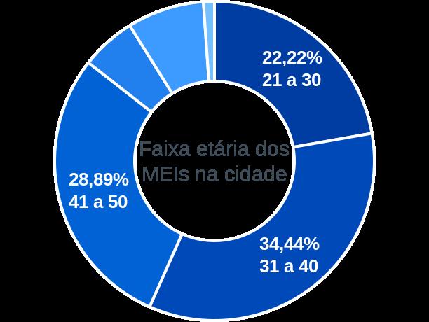 Faixa etária de MEIs na cidade de São João da Serra