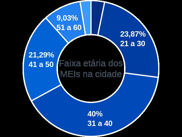 Faixa etária de MEIs na cidade de São João do Arraial