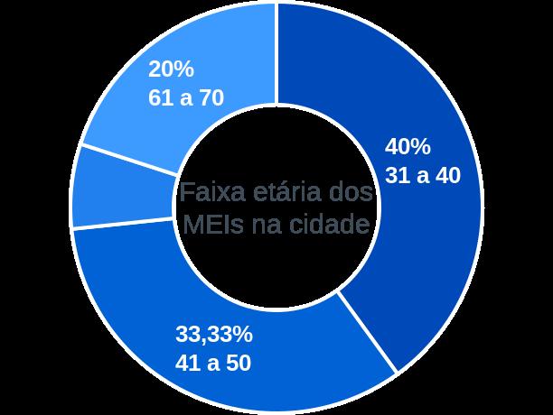 Faixa etária de MEIs na cidade de São Luis do Piauí