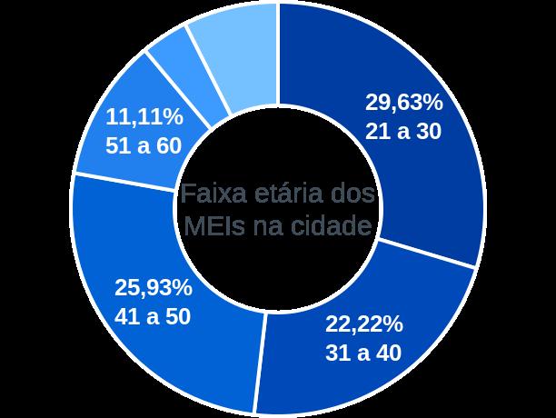 Faixa etária de MEIs na cidade de São Miguel do Fidalgo