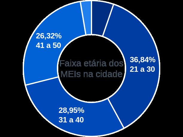 Faixa etária de MEIs na cidade de Sebastião Barros