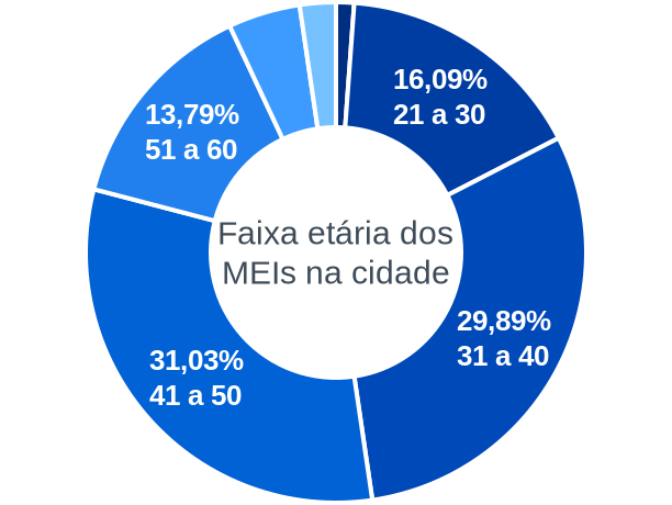 Faixa etária de MEIs na cidade de Tanque do Piauí