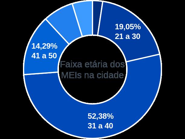Faixa etária de MEIs na cidade de Vila Nova do Piauí