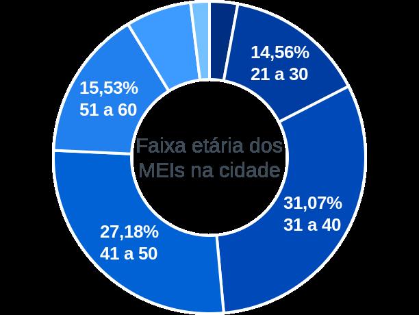 Faixa etária de MEIs na cidade de Barra do Jacaré