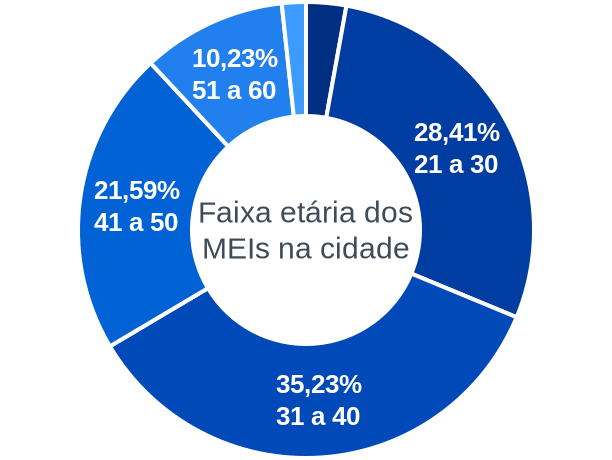 Faixa etária de MEIs na cidade de Boa Ventura de São Roque