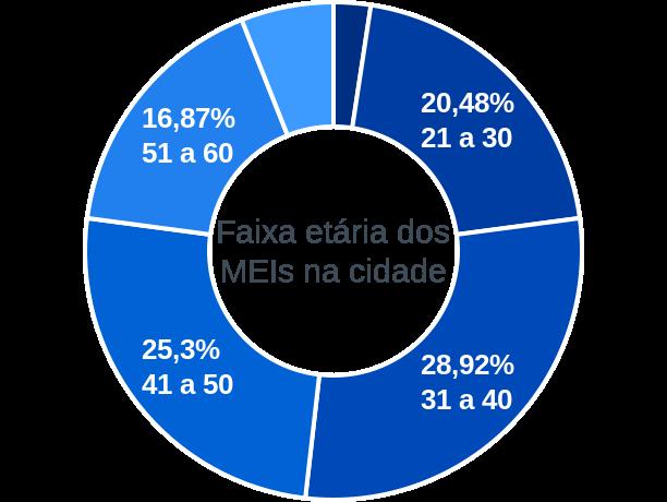 Faixa etária de MEIs na cidade de Campina do Simão