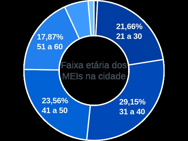 Faixa etária de MEIs na cidade de Cruzeiro do Oeste