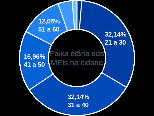 Faixa etária de MEIs na cidade de Enéas Marques